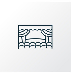 theater stage icon line symbol premium quality vector image