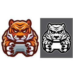 Tiger gamer mascot vector
