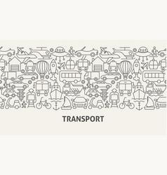 Transport banner concept vector
