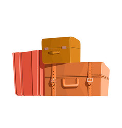 Travel bags and luggage color heap of vector