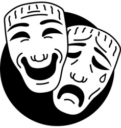 tre comedy and tragedy mas vector image