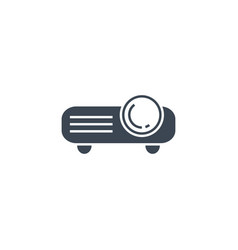 video projector related glyph icon vector image