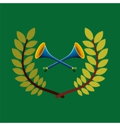 vuvuzela olympic games emblem vector image