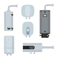 Water boiler household modern technology heater vector