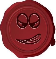 Wax seal Smiley 28 vector