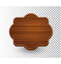 Wooden isolated retro vintage frame template vector