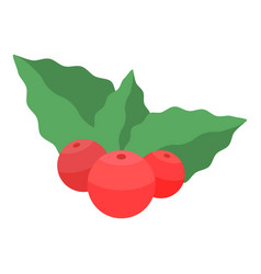 xmas berries icon isometric style vector image