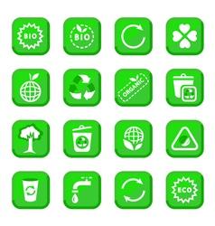 environmental icon set vector image vector image