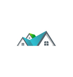house roof company logo vector image