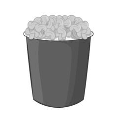 Popcorn icon black monochrome style vector image vector image