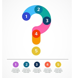Question mark abstract background infographic vector image