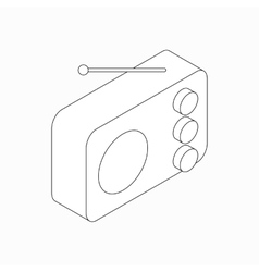 Radio icon isometric 3d style vector image vector image