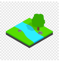 river landscape isometric icon vector image