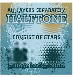 set of halftone on the grunge background vector image vector image