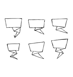 Set of hand-drawn origami banners vector image vector image