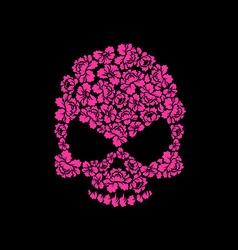 Skull of roses on a black background Flower skull vector image