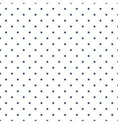 Tile pattern blue polka dots on white background vector image