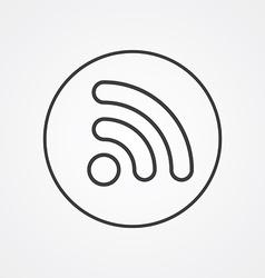 WiFi outline symbol dark on white background logo vector image vector image
