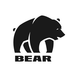 bear monochrome logo vector image vector image