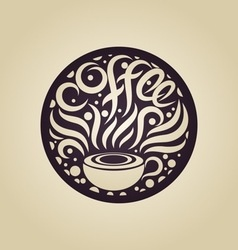 Coffee logo design template vector image vector image