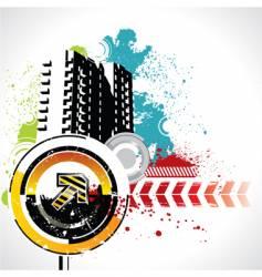 grunge urban scene vector image vector image