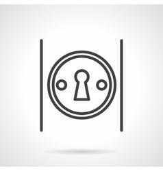 Keyhole on door simple line icon vector image