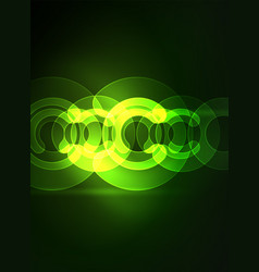 round glowing elements on dark space abstract vector image