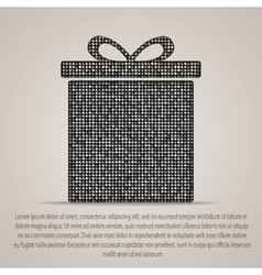 sequins silver gift box Mosaic element vector image vector image