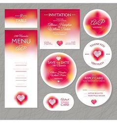 Set of modern wedding cards vector image vector image