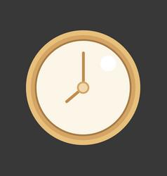 simple clock vector image