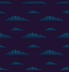 Digital music equalizer audio waves vector