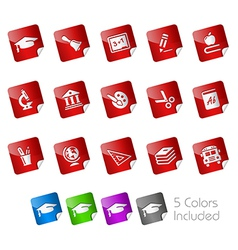 Education Stickers vector image