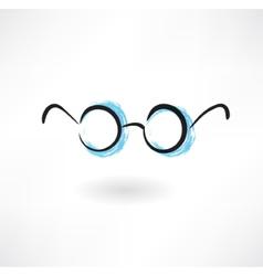 eyeglasses grunge icon vector image vector image