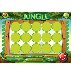 Game template with jungle theme vector image vector image