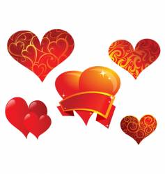 Heart shape set vector