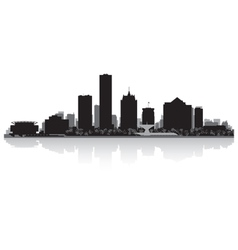 Milwaukee USA city skyline silhouette vector image vector image