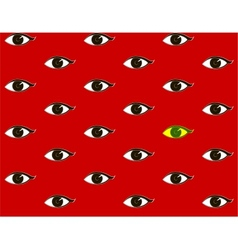 red background with eyes vector image vector image