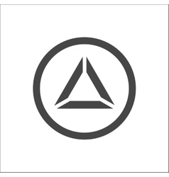 Triangle Pyramid Abstract Icon vector image