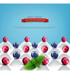 wave yogurt with berries vector image