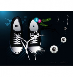 athletic shoes sneakers vector image vector image