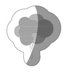 figure stamp creative tree icon vector image