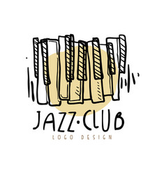 jazz club logo design vintage music label with vector image vector image