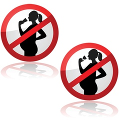 No drinks for pregnant women vector image