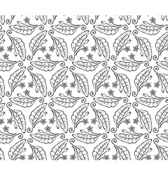 Seamless from leaves and flowers vector image vector image
