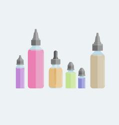 set of vape e-liquids vector image vector image