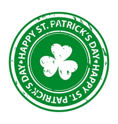 St patricks day rubber stamp vector image vector image