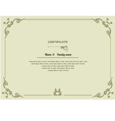 Thai elegant art frame certificate design templat vector image