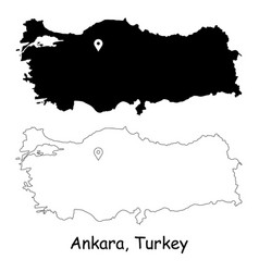 1183 ankara turkey vector image