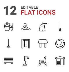 12 outdoor icons vector
