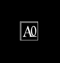A o letter logo emblem designa o letter logo vector